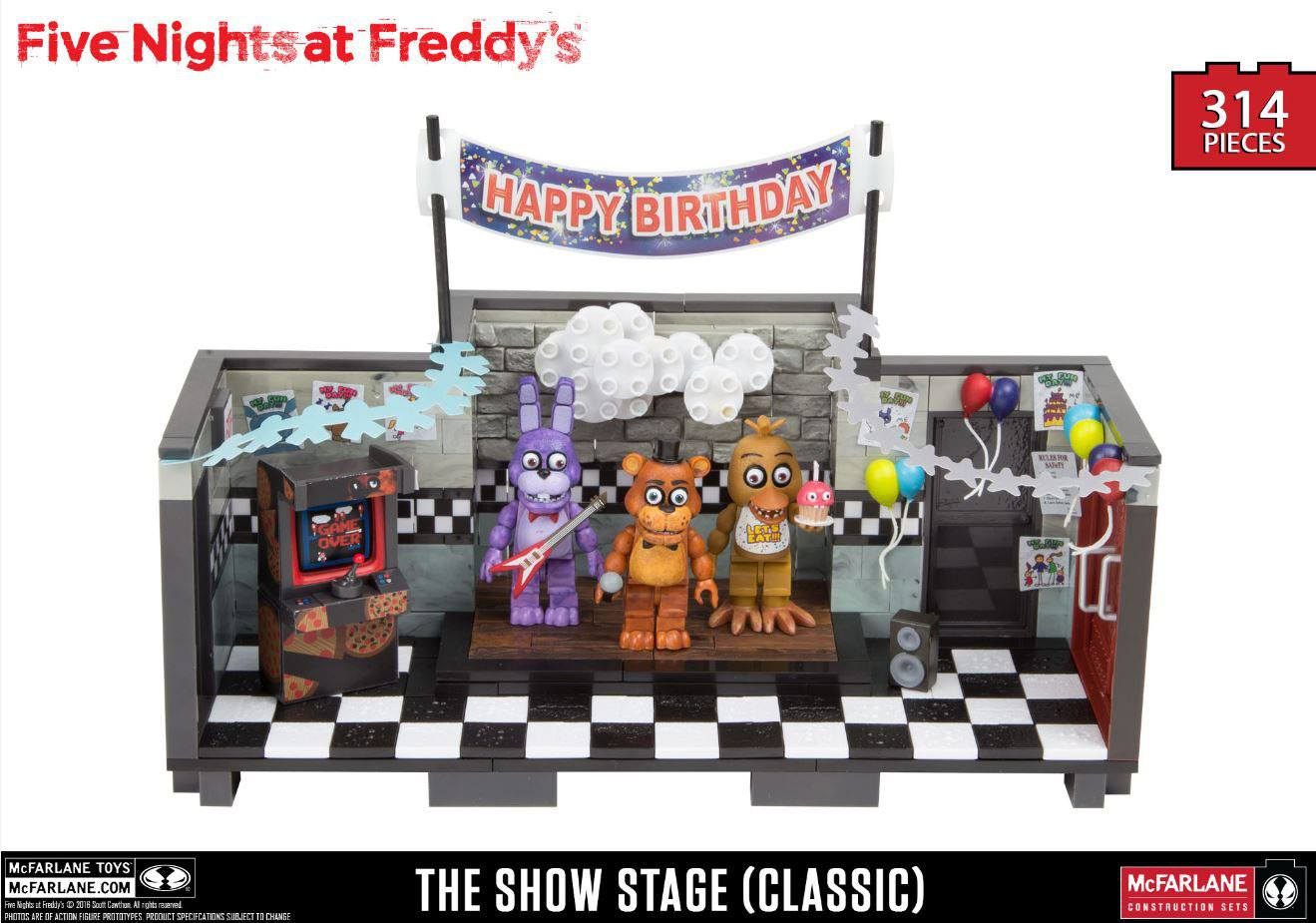 Five Nights at Freddy´s Large Construction Set Showstage (Classic Series)