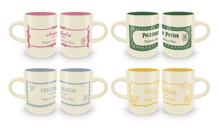 Harry Potter Espresso Mugs 4-Pack Potions Collection