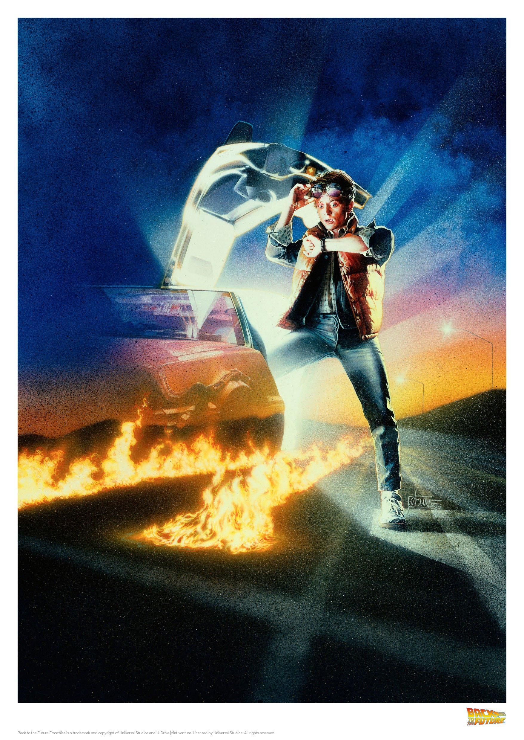 Back to the Future Art Print Cover 42 x 30 cm