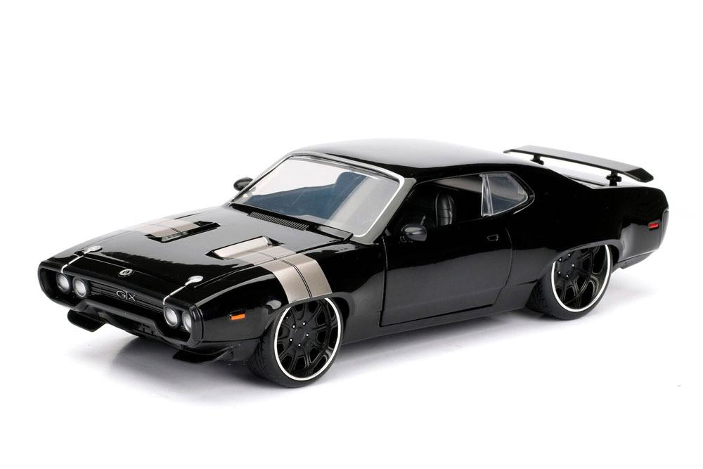 Fast & Furious 8 Diecast Model 1/24 Dom's 1972 Plymouth GTX