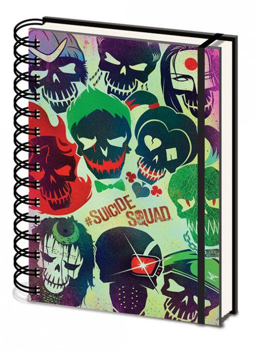 Suicide Squad Notebook A5 Skulls
