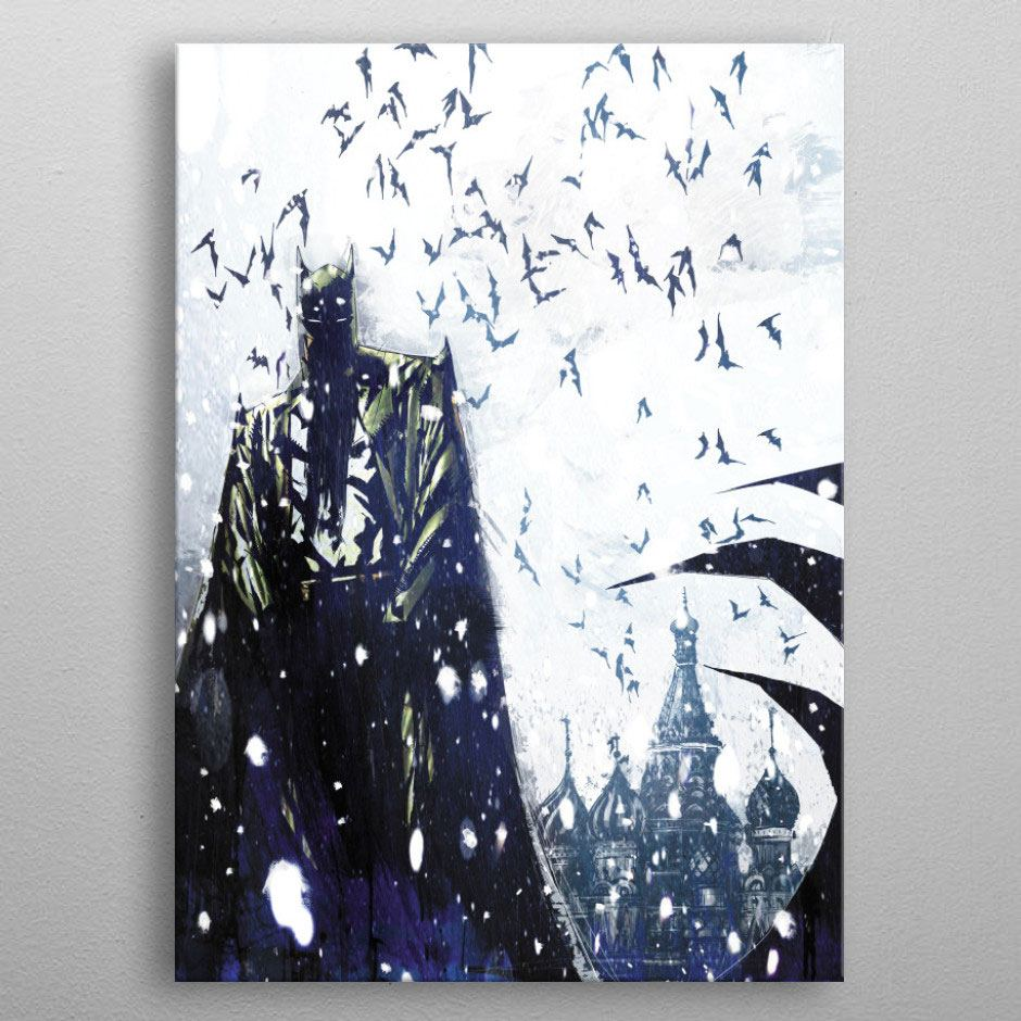 DC Comics Metal Poster Batman Light Absorption Bat Master 32 x 45 cm