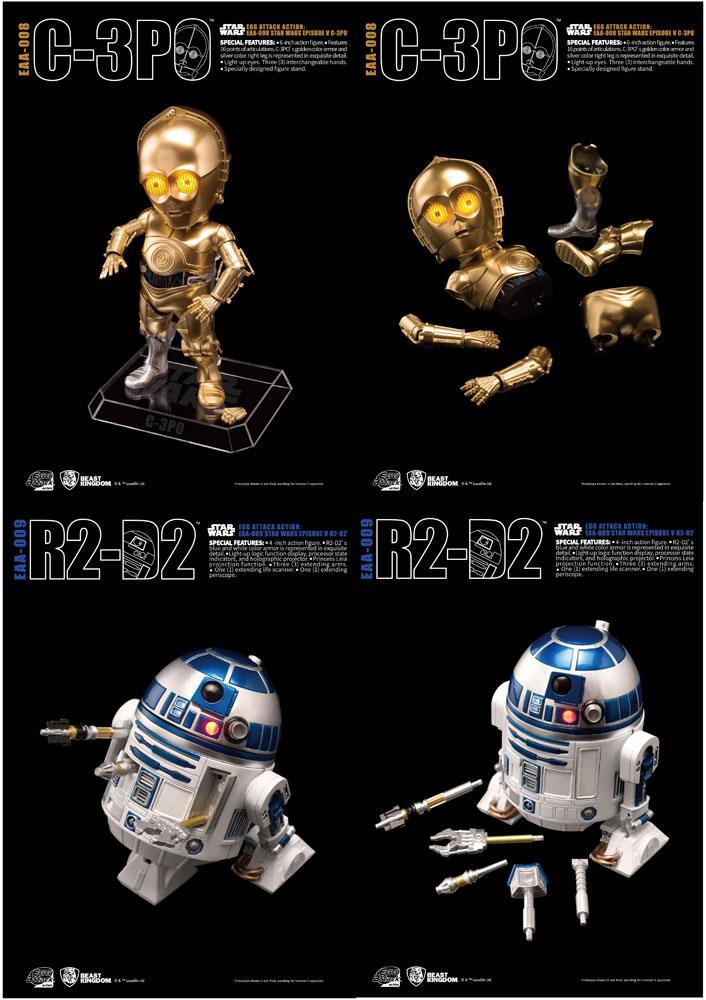 Star Wars Egg Attack Action Figure 2-Pack R2-D2 & C-3PO (Episode V) 10-15 cm