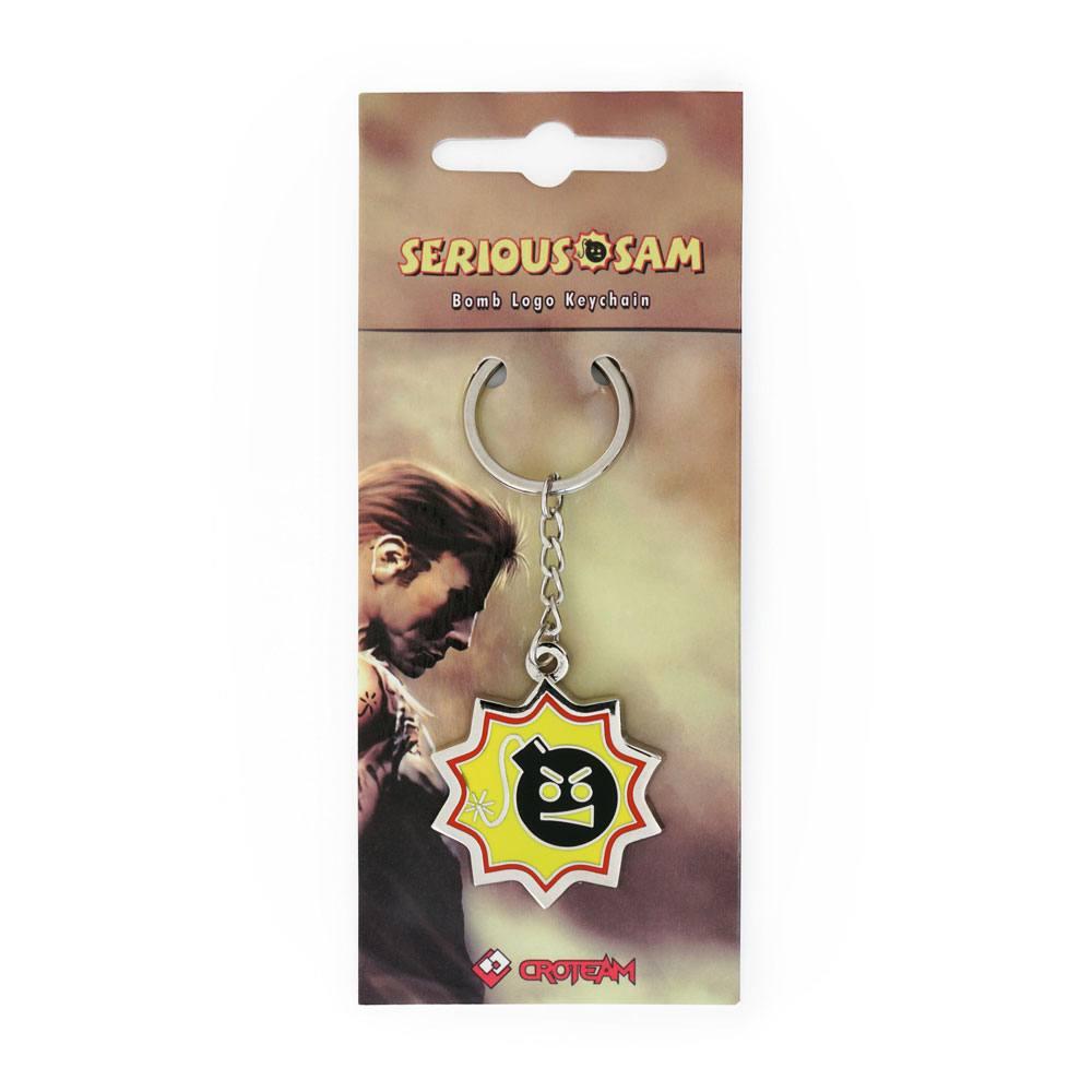 Serious Sam Metal Keychain Bomb Logo