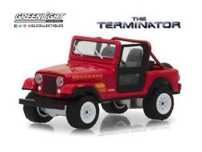 Terminator Diecast Model 1/18 1983 Jeep CJ-7 Renegade with Figure
