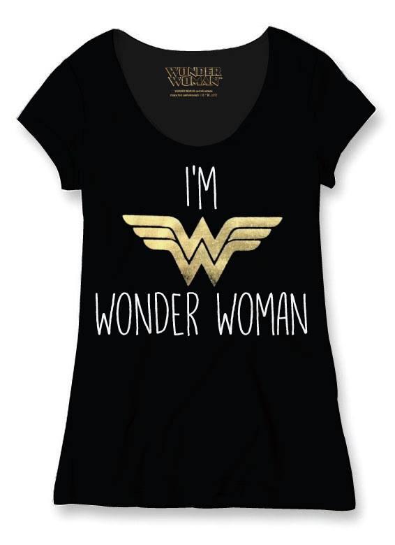 Wonder Woman Ladies T-Shirt I'm Wonder Woman Size XL