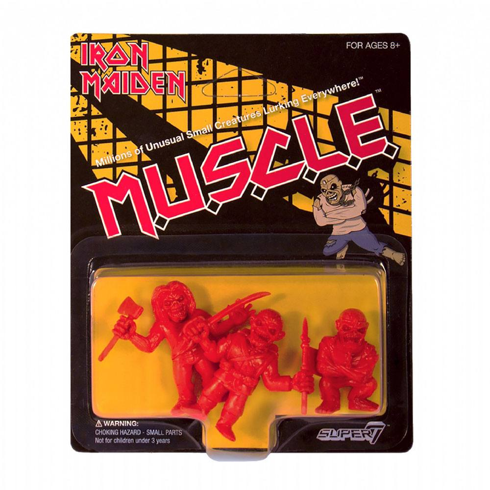 Iron Maiden MUSCLE Figures 3-Pack Wave 1 red 4 cm