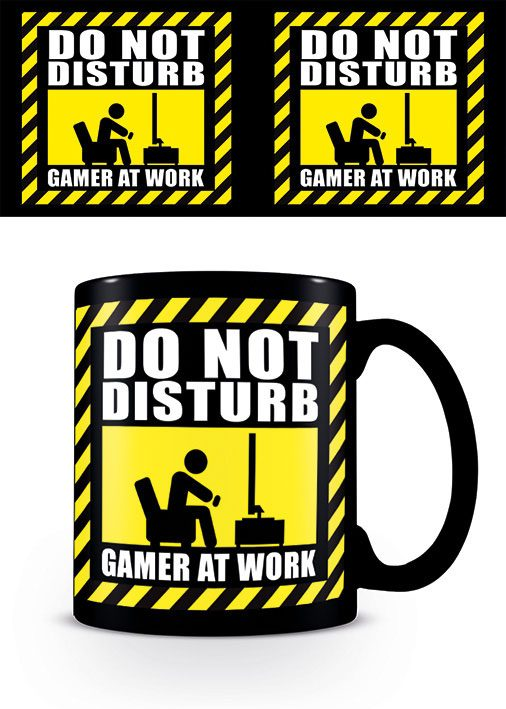 Gamer at Work Mug Do Not Disturb Black