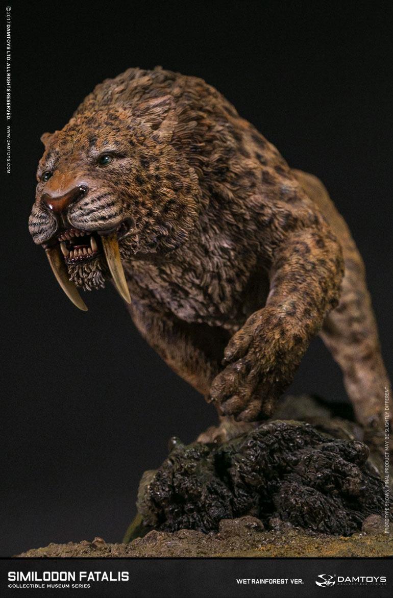 Paleontology World Museum Collection Series Statue Similodon Fatalis Wet Rainforest Ver. 28 cm