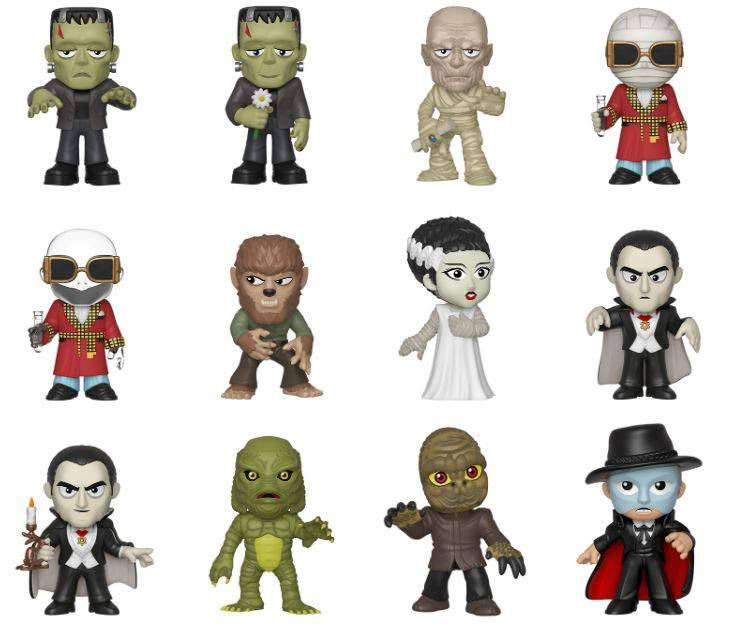 Universal Monsters Mystery Mini Figures 5 cm Display (12)