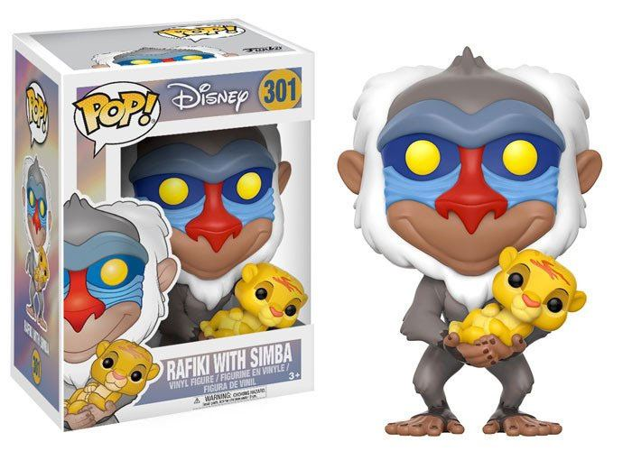 The Lion King POP! Disney Vinyl Figure Rafiki & Simba 9 cm