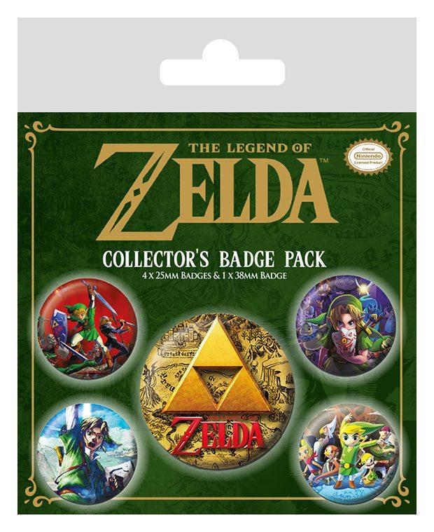 Legend of Zelda Pin Badges 5-Pack Classics