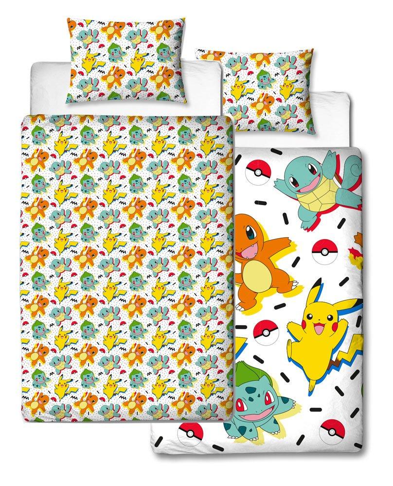 Pokemon Duvet Set Reversible Starters Memphis 135 x 200 cm / 48 x 74 cm