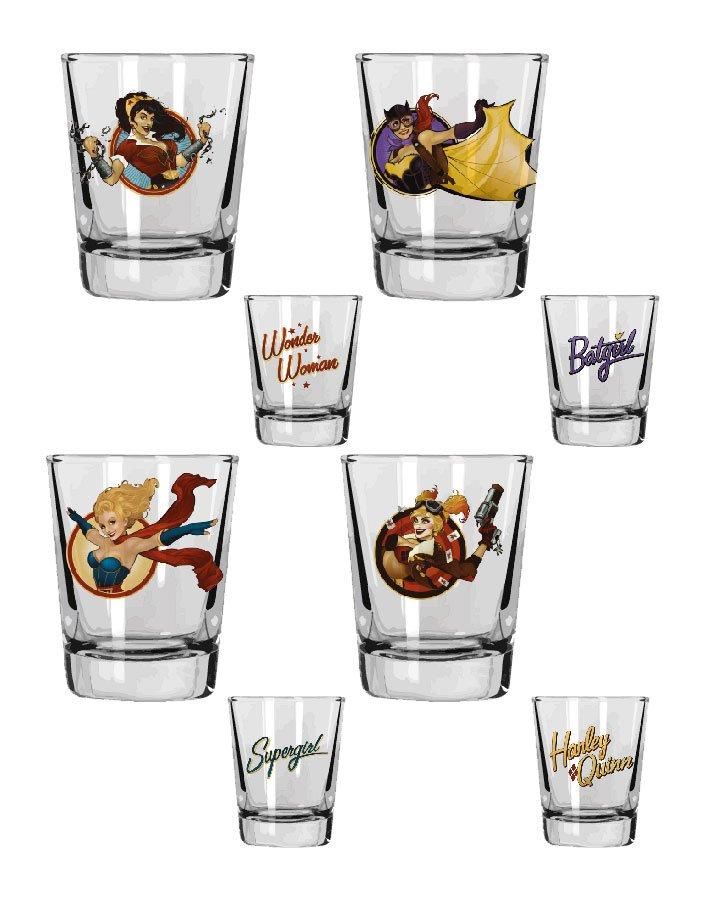 DC Comics Bombshells Shotglass 4-Pack Girls