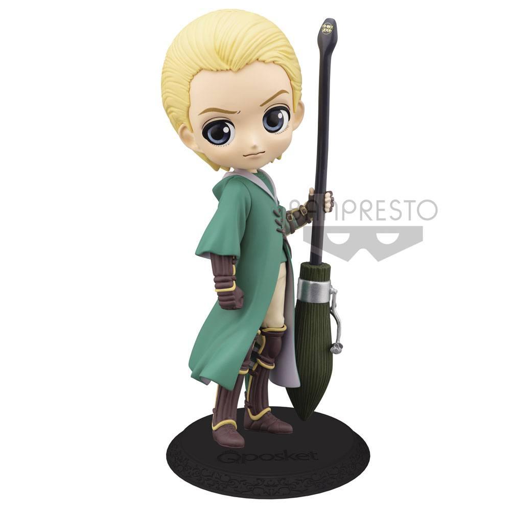 Harry Potter Q Posket Mini Figure Draco Malfoy Quidditch Style Version B 14 cm