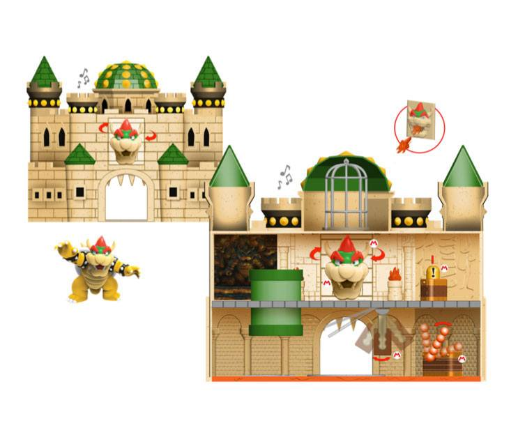 World of Nintendo Super Mario Deluxe Playset Bowser Castle
