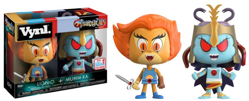 ThunderCats VYNL Vinyl Figures 2-Pack Lion-O & Mumm-Ra 2017 Fall Convention Exclusive