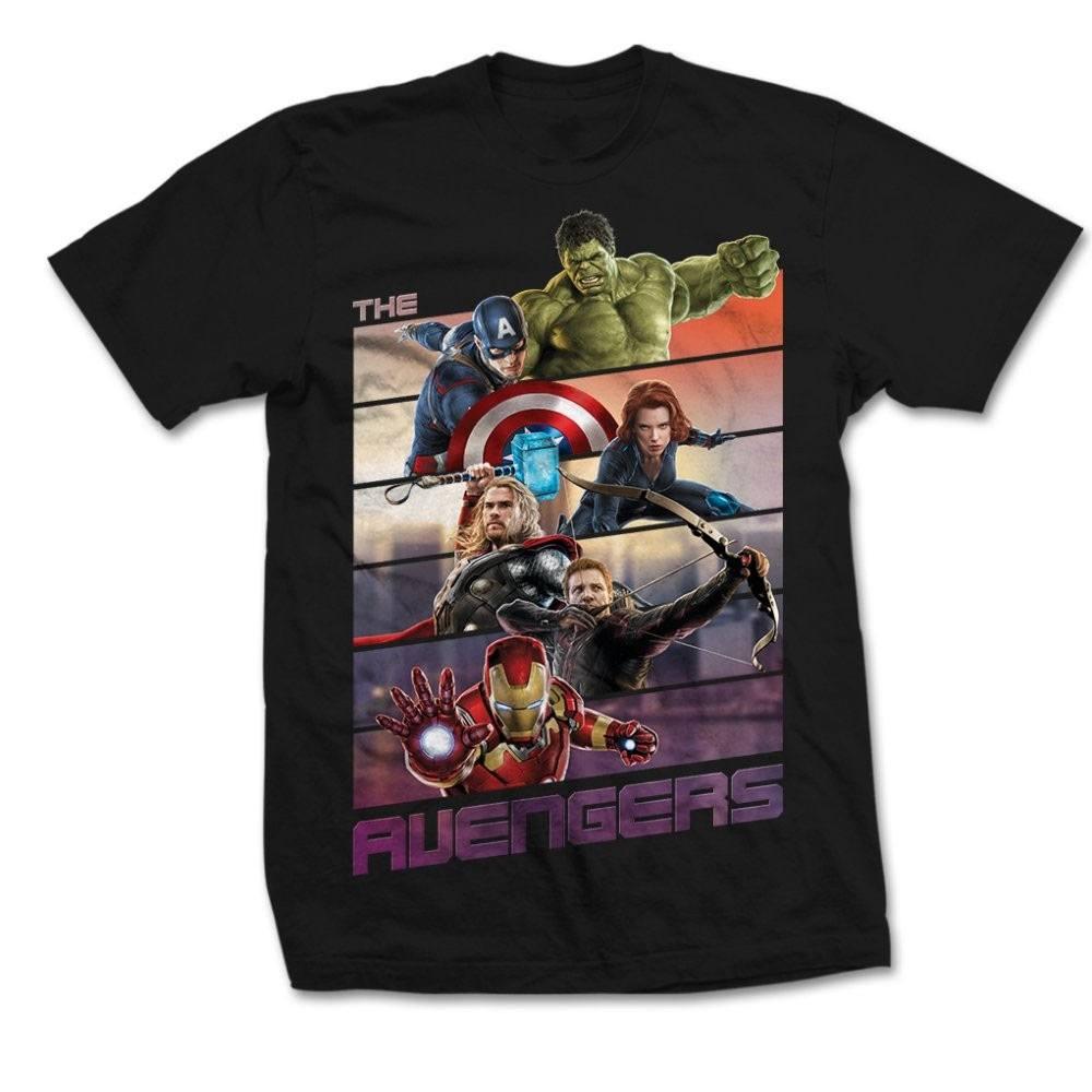 Marvel Comics T-Shirt The Avengers Bars  Size L