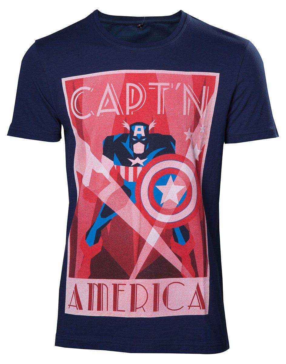 Captain America T-Shirt Shield Up Size XL