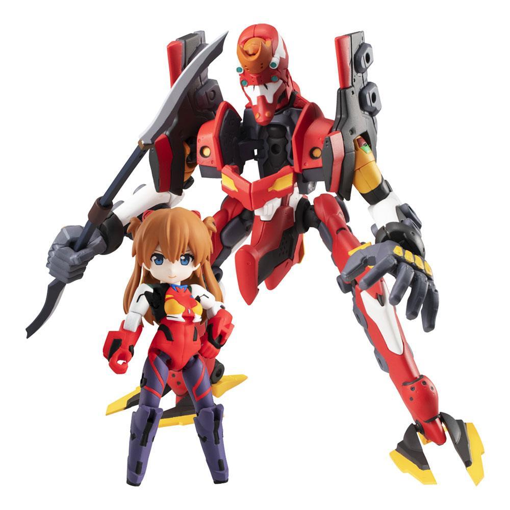 Evangelion Desktop Army Figures Shikinami Asuka Langley & Evangelion 2 8 - 15 cm
