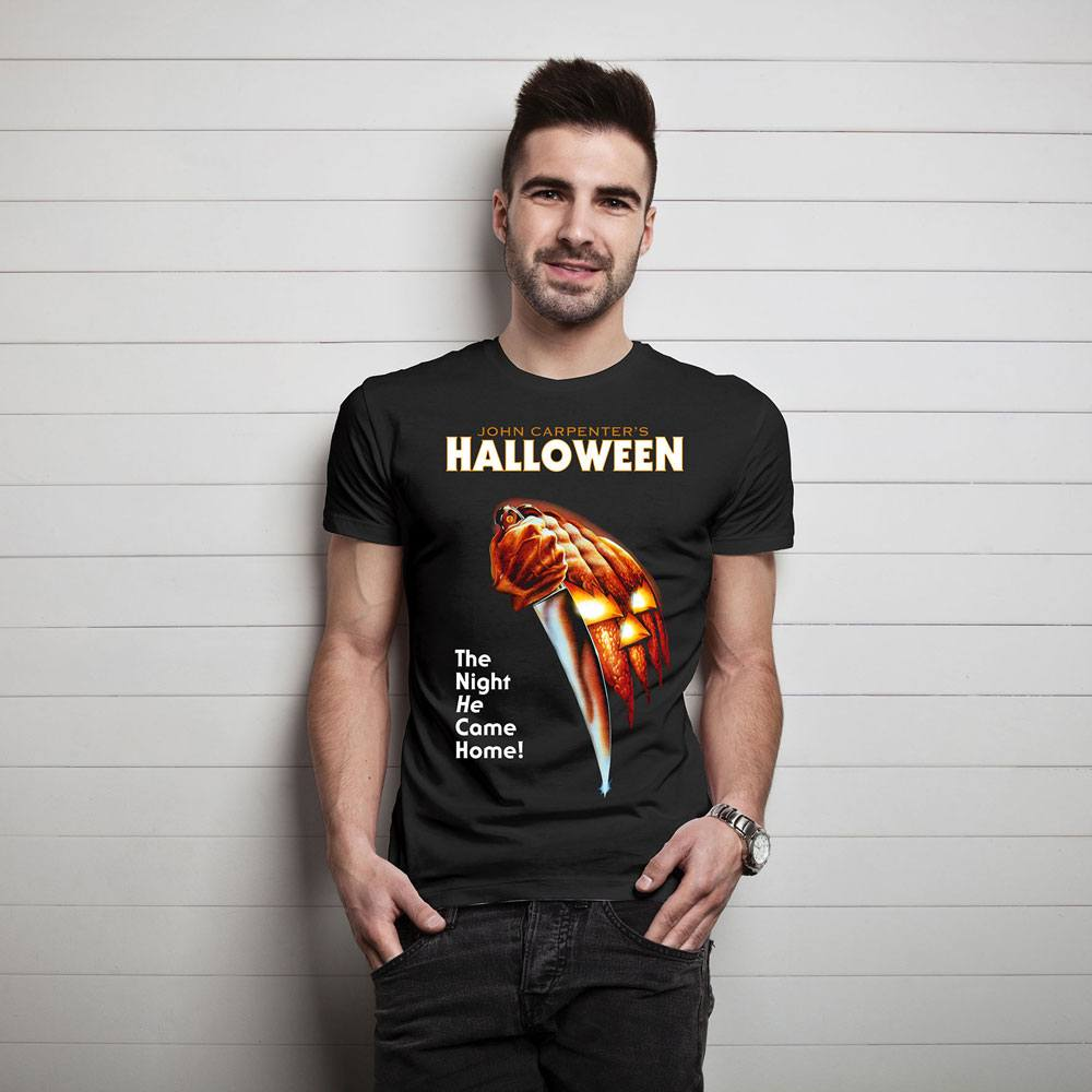 Halloween T-Shirt Film Poster  Size L