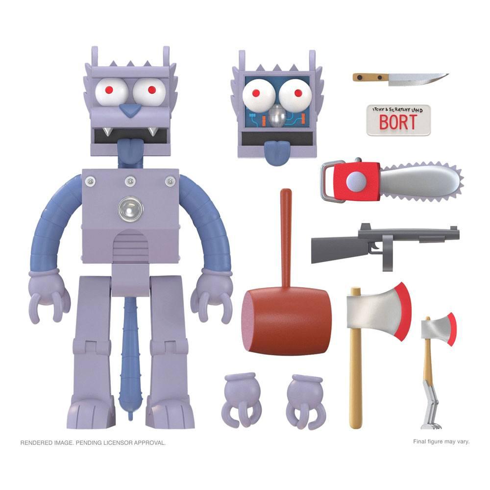 The Simpsons Ultimates Action Figure Robot Scratchy 18 cm