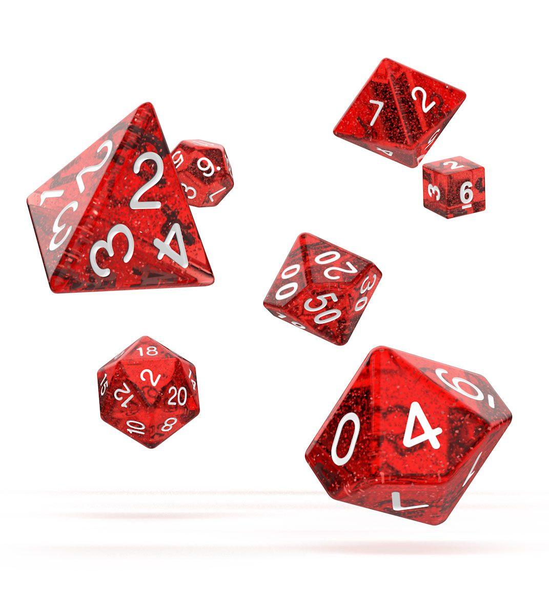 Oakie Doakie Dice RPG Set Speckled - Red (7)