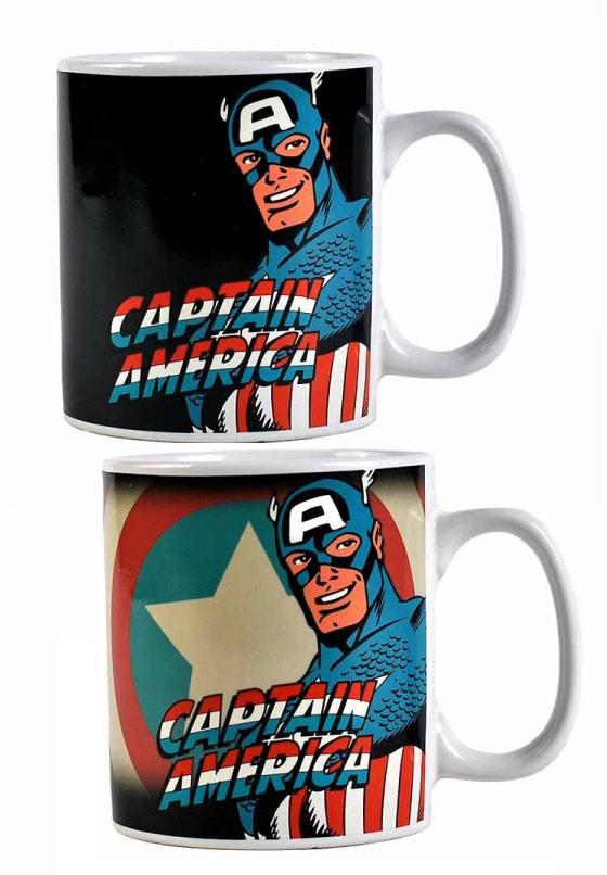 Marvel Comics Heat Change Mug Captain America