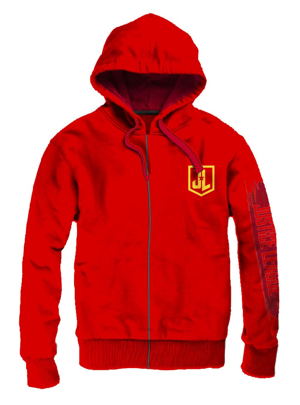 Justice League Hooded Sweater Flash Logo Size L