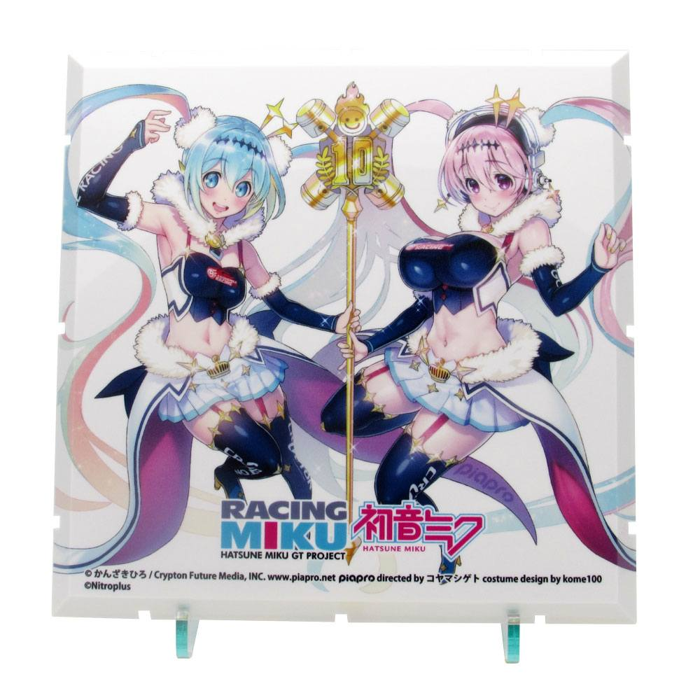 Dioramansion 150 Decorative Parts Racing Miku Pit 2018 Optional Panel (Super Sonico Collab Ver.)
