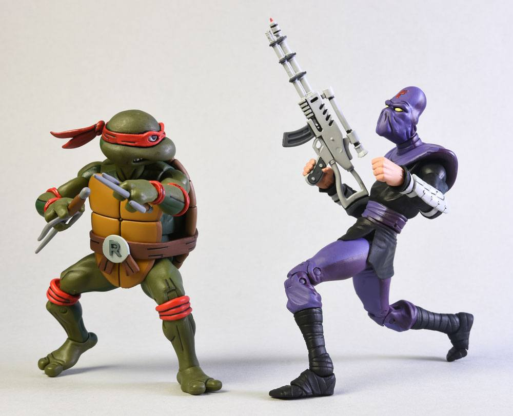 Teenage Mutant Ninja Turtles Action Figure 2-Pack Raphael vs Foot Soldier 18 cm