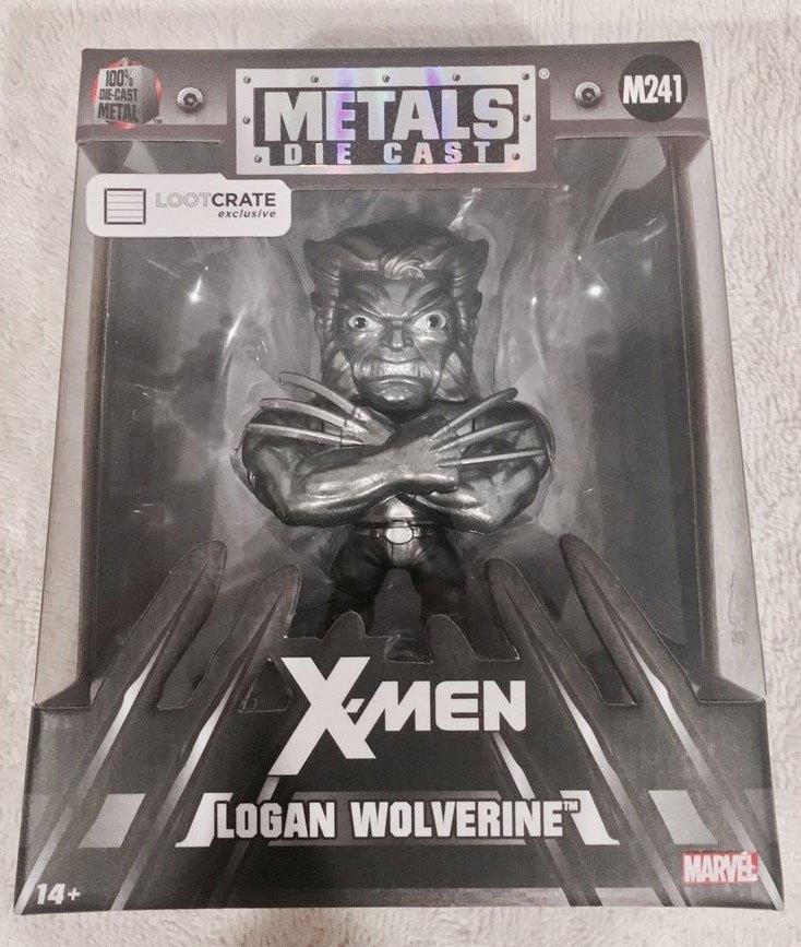 Marvel Comics Metals Diecast Mini Figure Wolverine Raw Metal LC Exclusive 10 cm