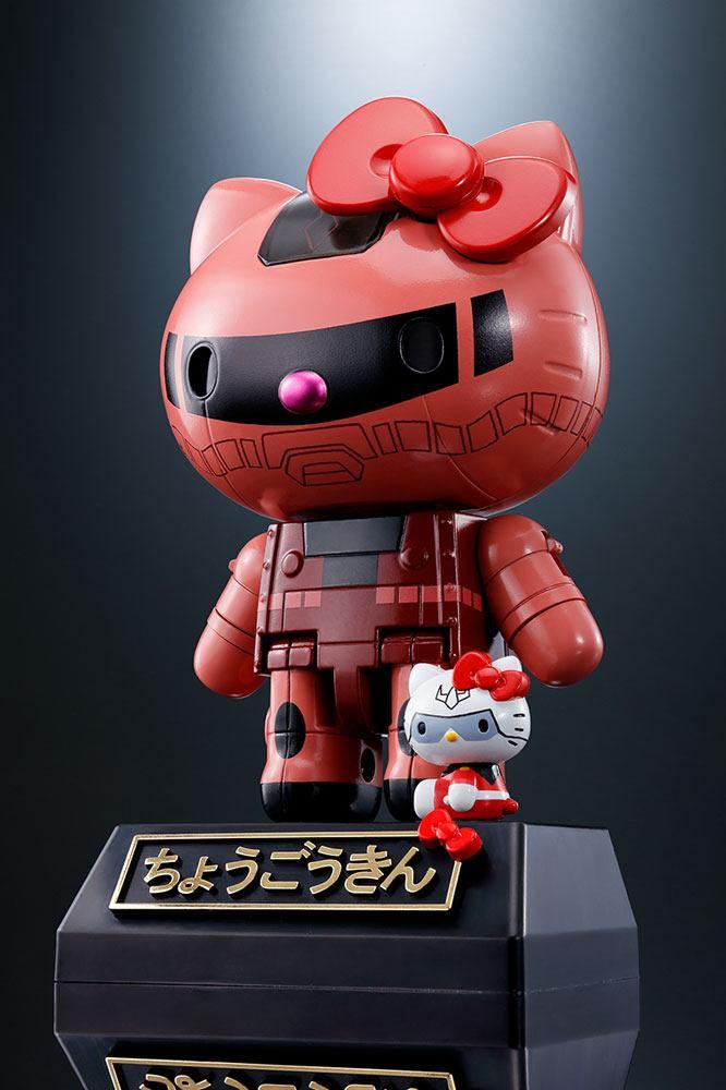 Hello Kitty Chogokin Diecast Action Figure Hello Kitty Char's Zaku II Ver. 11 cm