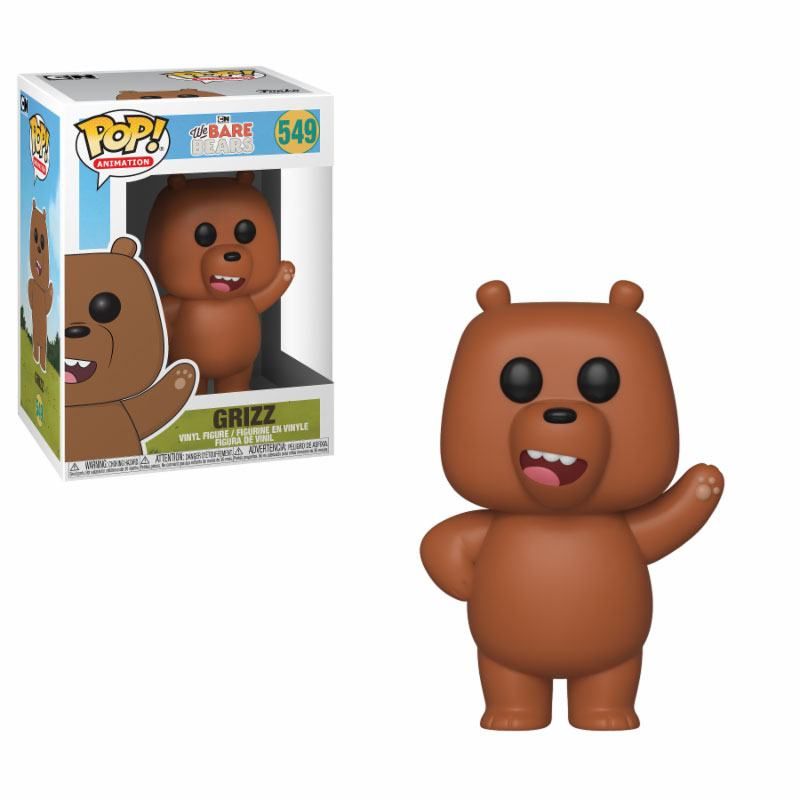We Bare Bears POP! Animation Vinyl Figure Grizzly 9 cm