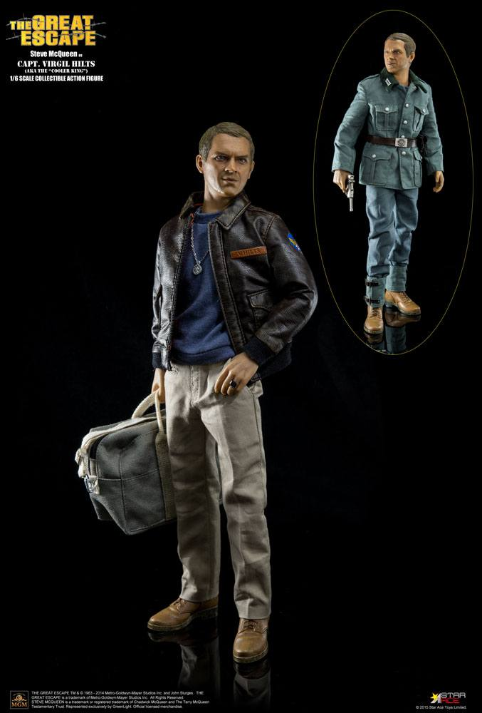 The Great Escape My Favourite Legend Action Figure 1/6 Steve McQueen Capt. Virgil Hilts Deluxe 30 cm