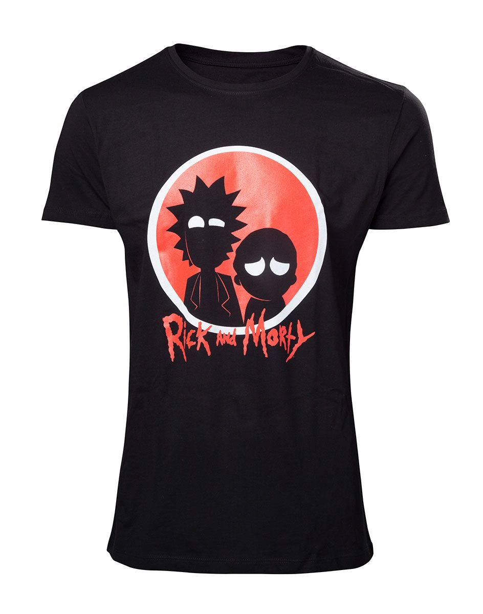 Rick & Morty T-Shirt Big Red Logo Size S