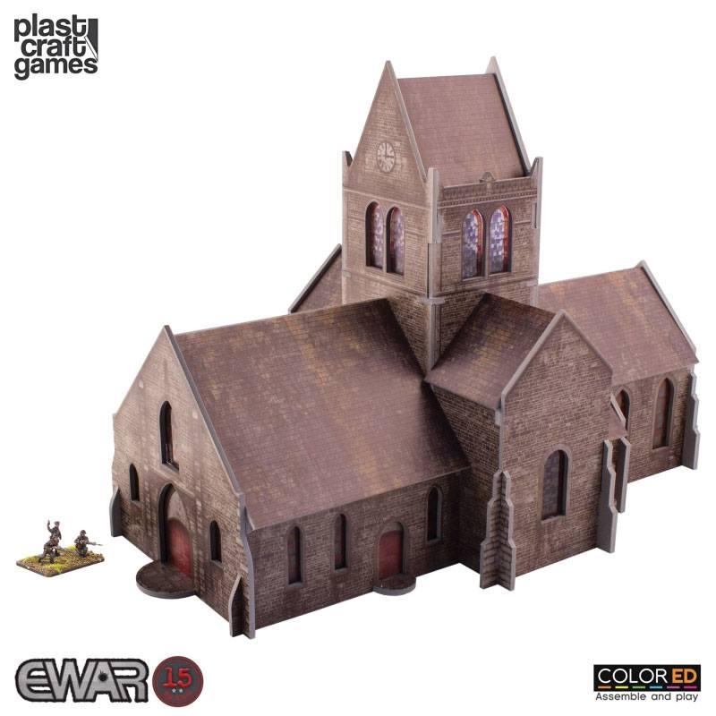 EWAR WWII ColorED Miniature Gaming Model Kit 15 mm Saint-Mère-Église Church