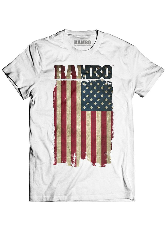 Rambo T-Shirt Flag Size M