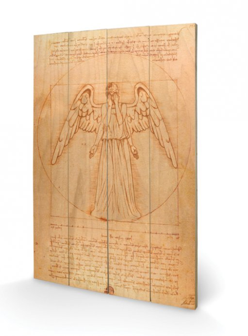 Doctor Who Wooden Wall Art Weeping Angel 40 x 60 cm