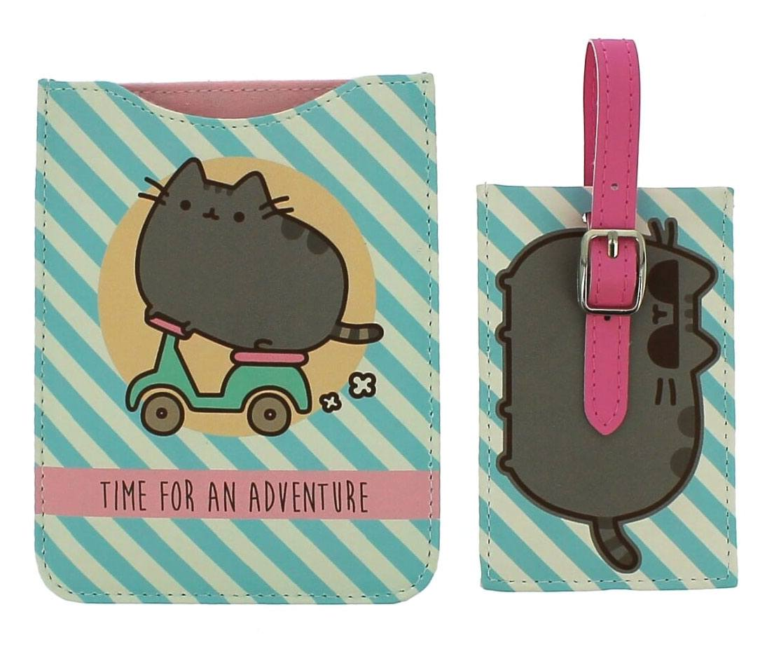 Pusheen Passport Holder & Luggage Tag Set