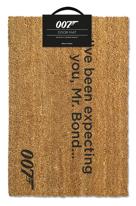 James Bond Doormat I've Been Expecting You 40 x 57 cm