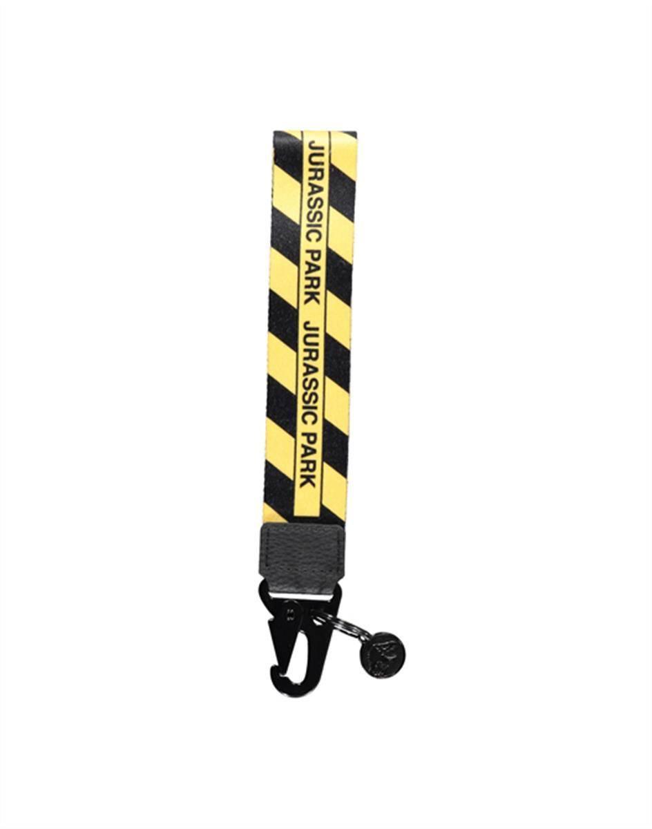Jurassic Park Metal Keychain with PU Caution Tape