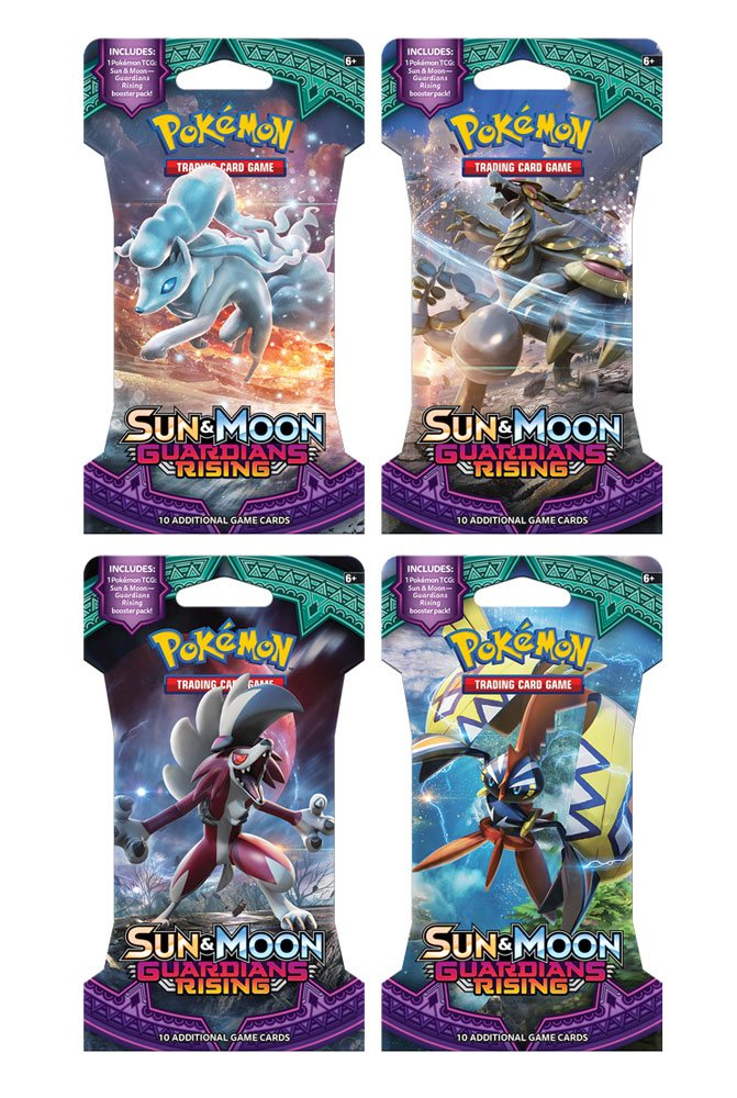 Pokemon Sun and Moon 2 Guardians Rising Sleeved Booster Display (24) *English Version*