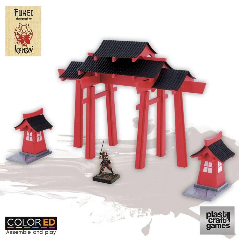 Kensei ColorED Miniature Gaming Model Kit 28 mm Shrine Gate