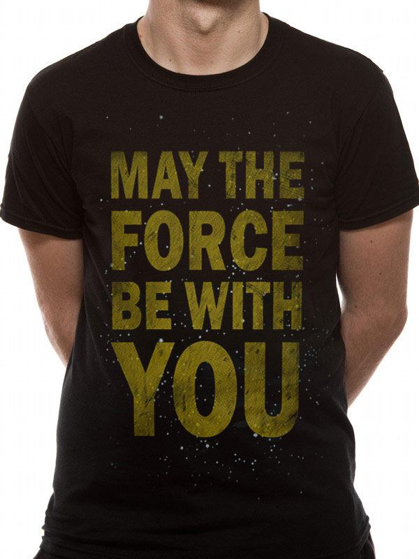 Star Wars T-Shirt Force Text Size L