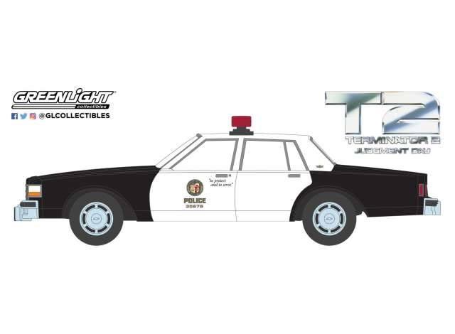 Terminator 2 Diecast Model 1/64 1987 Chevrolet Caprice Metropolitan Police