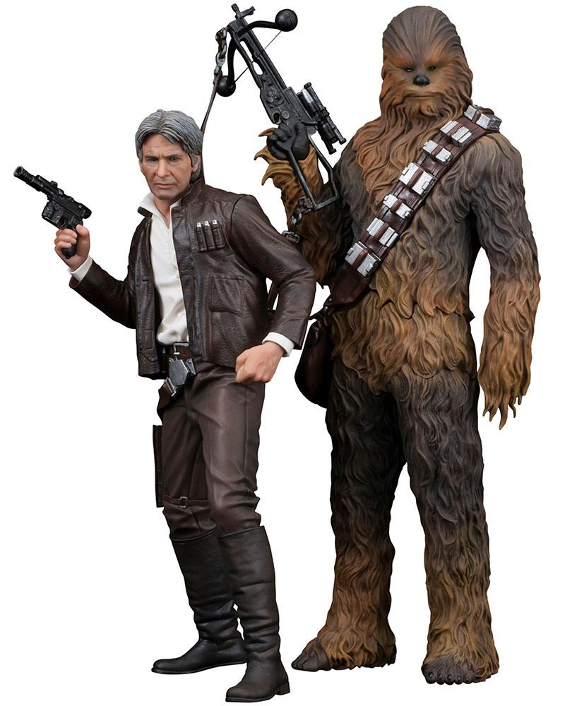 Star Wars Episode VII ARTFX+ Statue 1/10 2-Pack Han Solo & Chewbacca 20 - 23 cm
