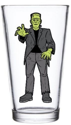 Universal Monsters Pint Glass Frankenstein