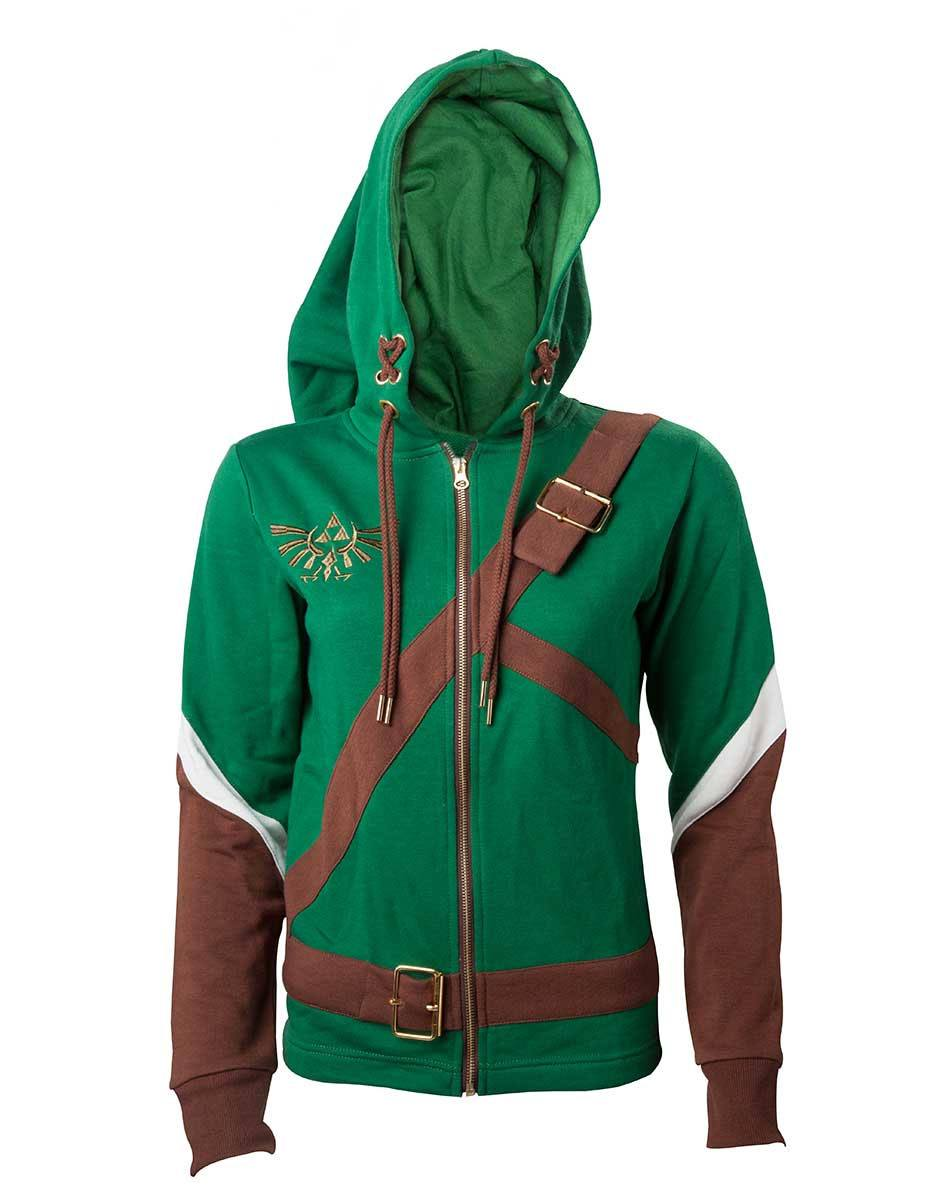 The Legend of Zelda Ladies Hooded Sweater Link Cosplay Size XL