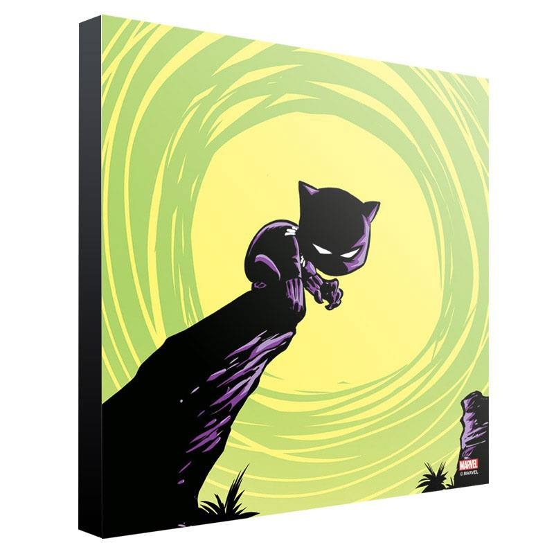 Marvel Wooden Wall Art Black Panther by Skottie Young 30 x 30 cm